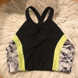 Athleta High Neck Bikini Top S